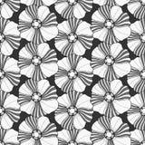 Modèle floral monochrome Image stock