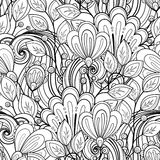 Modèle floral monochrome sans couture (vecteur) Photographie stock libre de droits