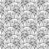 Modèle floral monochrome sans couture (vecteur) illustration de vecteur