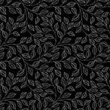 Modèle floral monochrome sans couture (vecteur) Image stock