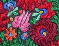 Modèle floral multicolore de broderie de main Image libre de droits