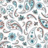 Modèle floral oriental de Paisley Photo libre de droits