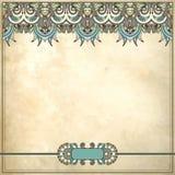 Modèle floral ornemental à l'arrière-plan grunge Photographie stock libre de droits