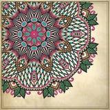 Modèle floral ornemental à l'arrière-plan grunge Images stock