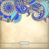 Modèle floral ornemental avec l'endroit pour le votre Photo stock
