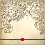 Modèle floral ornemental avec l'endroit pour votre texte Image libre de droits