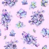 Modèle floral peint par aquarelle sans couture photo stock