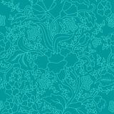 Modèle floral sans couture asiatique est bleu coloré illustration stock