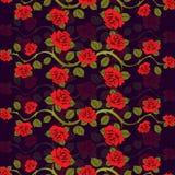 Modèle floral sans couture avec des branches de roses Illustration de Vecteur