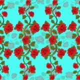 Modèle floral sans couture avec des branches de roses Impression florale Illustration de Vecteur