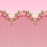 Modèle floral sans couture avec des pivoines Illustration Libre de Droits