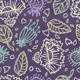 Modèle floral sans couture avec la fleur décorative Rétro impression Jardin Grand bourgeon Images stock