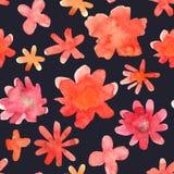 Modèle floral sans couture avec la fleur tirée par la main colorée d'isolement Images libres de droits