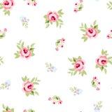 Modèle floral sans couture avec les roses roses Illustration de Vecteur