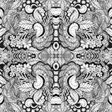 Modèle floral sans couture courant de kaléidoscope de griffonnage Image libre de droits