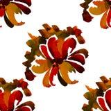 Modèle floral sans couture 9 d'aquarelle Photo stock