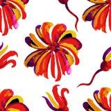 Modèle floral sans couture 20 d'aquarelle Photo libre de droits