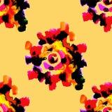 Modèle floral sans couture 2 d'aquarelle Images libres de droits