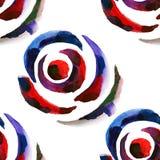 Modèle floral sans couture 10 d'aquarelle Images libres de droits