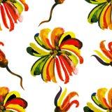 Modèle floral sans couture 19 d'aquarelle Photographie stock