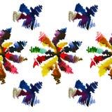 Modèle floral sans couture 17 d'aquarelle Photographie stock