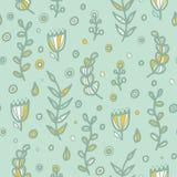 Modèle floral sans couture floral dans le style de griffonnage Photo libre de droits