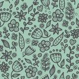Modèle floral sans couture floral dans le style de griffonnage Photos libres de droits