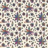 Modèle floral sans couture floral dans le style de griffonnage Image stock