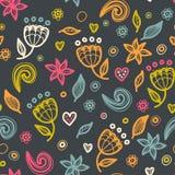 Modèle floral sans couture floral dans le style de griffonnage Photographie stock libre de droits
