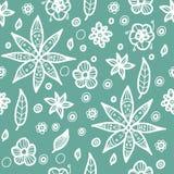 Modèle floral sans couture floral dans le style de griffonnage Images stock