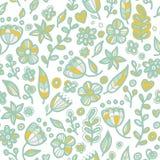 Modèle floral sans couture floral dans le style de griffonnage Photo stock