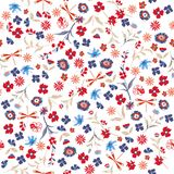 Modèle floral sans couture de belle liberté Fond dans petit c illustration de vecteur