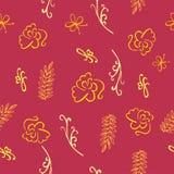 Modèle floral sans couture de Bourgogne - illustration Image libre de droits