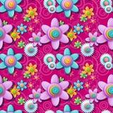 Modèle floral sans couture des boutons illustration de vecteur