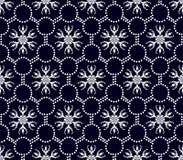 Modèle floral sans couture des formes blanches géométriques Photographie stock