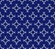 Modèle floral sans couture des formes blanches géométriques Image libre de droits