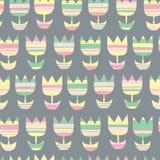 Modèle floral sans couture géométrique scandinave illustration stock