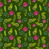 Modèle floral sans couture pour des enfants illustration stock