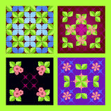 Modèle floral sans couture réglé Photos libres de droits