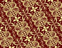 Modèle floral sans couture rouge crème Photo libre de droits