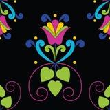 Modèle floral sans couture sur le fond noir Photo stock