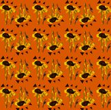 Modèle floral sans couture : Tournesols et triangles illustration libre de droits
