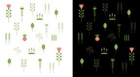 Modèle floral Photos libres de droits