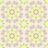 Modèle floral sur le fond beige Image libre de droits