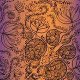Modèle floral tiré par la main Images libres de droits