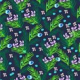 Modèle floral tiré par la main Photographie stock