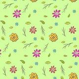 Modèle floral tiré par la main naïf coloré mignon Images stock