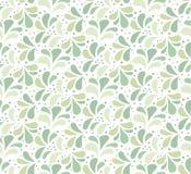 Modèle floral vert sans couture Fond d'ornement de vecteur Texture abstraite de cru illustration stock