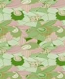 Modèle foncé d'orchidées et vert clair floral sans couture illustration stock
