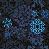 Modèle foncé de flocons de neige Photographie stock libre de droits
